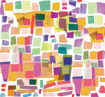 Holly-Anne Rolfe multi-coloured abstract paper cut pattern copyright Holly-Anne Rolfe